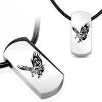 Кулон на кожаном шнурке с изображением орла SSPQ-1009
