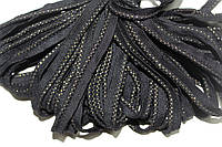 Кант текстильный (50м) черный+золото , фото 1