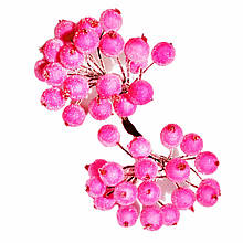 Ягоди в цукрі декоративні рожеві 12 мм