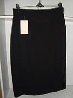 Женская юбка ниже колен черного цвета