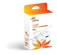 Сетевое зарядное устройство Florence USB + cable iPhone 6/6 Plus white, 1000mA