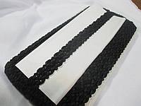 Тасьма декоративна 2 см. Чорна. Тайвань