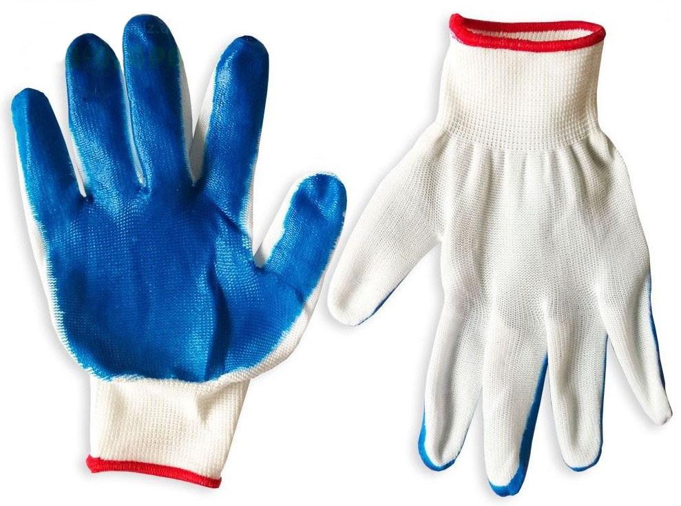 Перчатки стрейчевые (синие), вампир синий