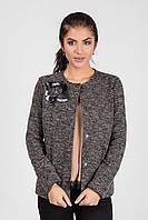 Модный женский пиджак класса люкс  прямого кроя с цветком
