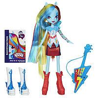 Кукла Рэйнбоу Дэш с гитарой  Девушки Эквестрии Май литл пони My Little Pony Equestria Girls Rainbow Dash Doll)