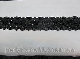 Тасьма декоративна 2 див. Чорна.Тайвань. Тасьма декоративна
