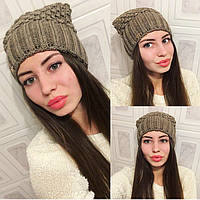 """Женская, зимняя шапочка модного фасона """"Полушерсть"""" РАЗНЫЕ ЦВЕТА"""