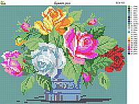 Схема для вышивки бисером Букет роз