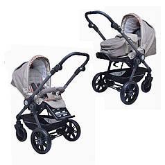 Детская коляска 2 в 1 BE YOU V3 (кожа) Teutonia