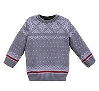 """Свитер """"Снежинка"""" (светло-серый) для мальчика 6-10 лет"""