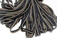 Кант текстильный (50м) черный+бежевый