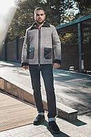 Мужская куртка теплая зима на металл. двойной молнии, с карманами Змея
