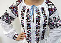 Женская вышиванка на домотканом полотне Загадка, размер 44-46