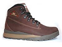 Ботинки мужские Sketchers 84к натуральная кожа, зимние на меху