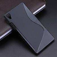 Чехол Sony Z5 / E6683 / E6603 / E6633 / E6653 силикон TPU S-LINE черный