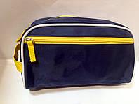 Мужская косметичка-несессер прямоугольная со скошенными краями и карманом на молнии.