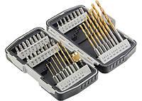 Набор бит и свёрел,магнитный адаптер,CrV, в пласт. боксе,40шт.//MTX 11322 113229