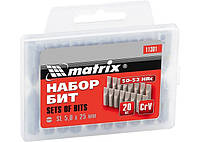 Набор бит Ph2 x 25 мм, сталь 45Х, 20 шт., в пласт. боксе// MTX 11352 113529