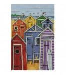 """Набор для вышивания """"Радужные пляжные домики (Rainbow Beach Huts)"""" ANCHOR"""
