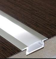 Врезной алюминиевый профиль для LED лент 2 м. с рассеивателем