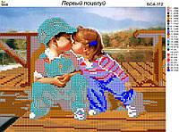Схема для вышивки бисером Первый поцелуй