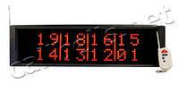 Приемник вызовов официантов-табло с одновременным выводом 8 номеров вызова R1800 RECS