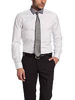 Мужская рубашка LC Waikiki белого цвета с серым воротником