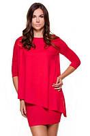Красное платье-туника вискоза 44 46 48p Violana