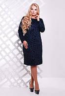 Женское Платье темно-синее с рисунком  ИРМА (54-60)