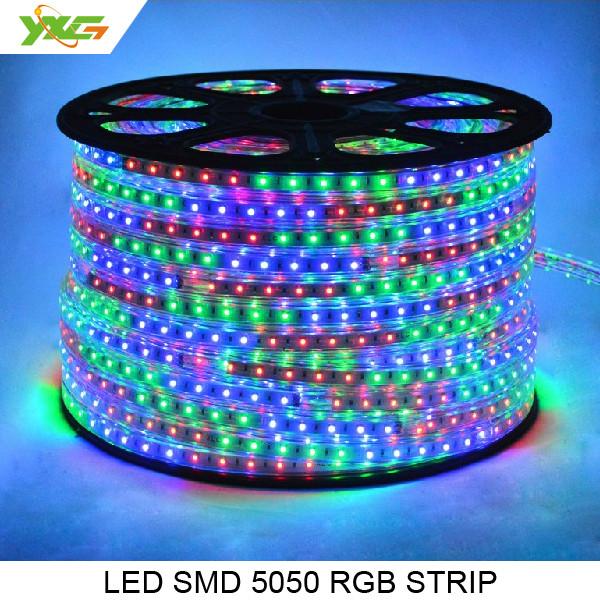 Светодиодная лента 220 вольт 5050 RGB Цветная -100 м