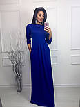 Женское модное платье в пол с карманами (3 цвета), фото 2