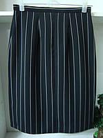 Женская классическая черная юбка в белую полоску, фото 1