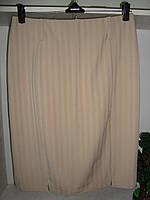 Женская классическая юбка бежевого цвета, фото 1