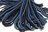 Кант текстильный (50м) черный+василек+голубой