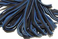 Кант текстильный (50м) черный+василек+голубой , фото 1
