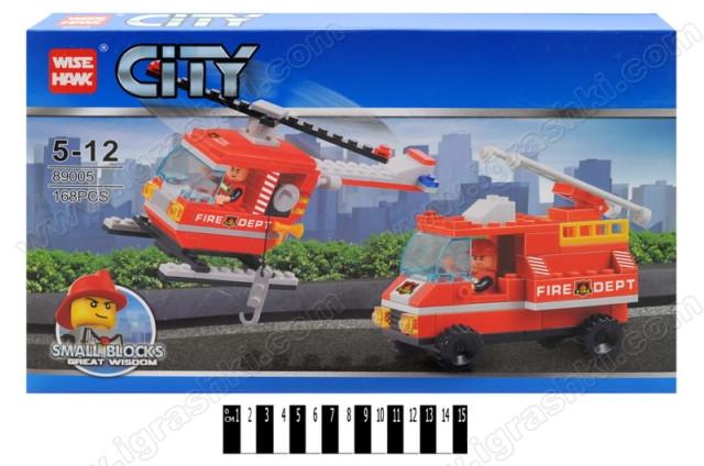 """Конструктор CITY 89005 """"Пожарная техника"""", 168 деталей"""