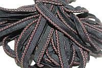 Кант текстильный (50м) черный+коричневый