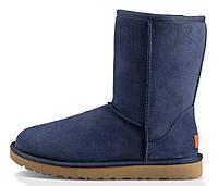 Зимние женские сапоги UGG Classic Short (короткие угги угг австралия) синие