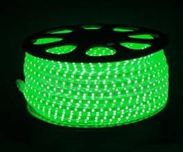 Светодиодная лента 220 вольт 5050 Зеленая -100 м