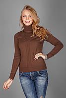 Уютный женский свитерок из натуральной хлопковой пряжи