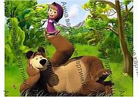 Картинка вафельная  Маша и Миша
