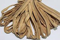 Кант текстильный (50м) т.бежевый+черный