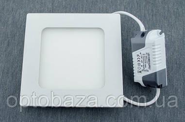 LED светильник Пластик Встраиваемый 6Вт 12см 3000К