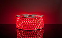 Светодиодная лента 220 вольт 5050 Красная -100 м