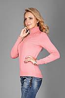 Очень теплый и приятный на ощупь женский свитер  воротник под горло