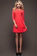 Женское красное платье-туника Силар  42-48 размеры Jadone