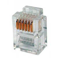 Коннектор телефонный 6p6c (RJ12, P66)