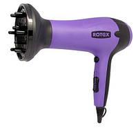 Фен для укладки волос Rotex RFF181-B, 1800 Вт, 5 режимов работы, 2 скорости, 3 режима температуры