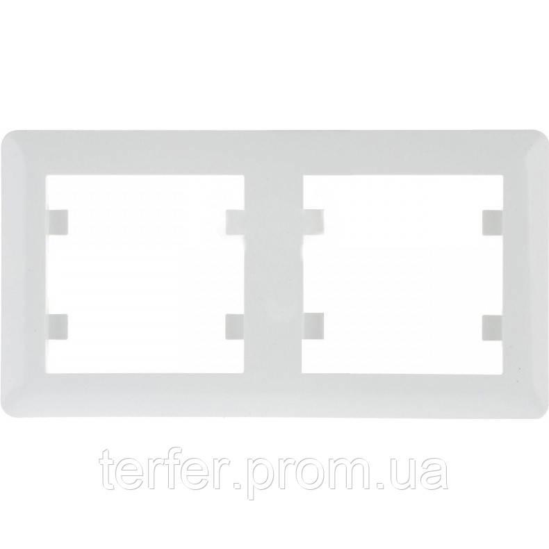 Рамка 2-кратная горизонтальная Lumina-2, белая