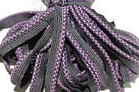 Кант текстильный (50м) черный+фиолетовый